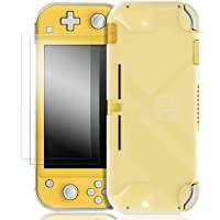 Taisioner 2pcs Tempered Glass Screen Protector with Translucent Protective Case Cover Suit for Nintendo SWITCH LITE…