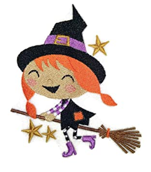 Personalizado y único feliz Halloween [Winifred bruja en una escoba] hierro bordado en/