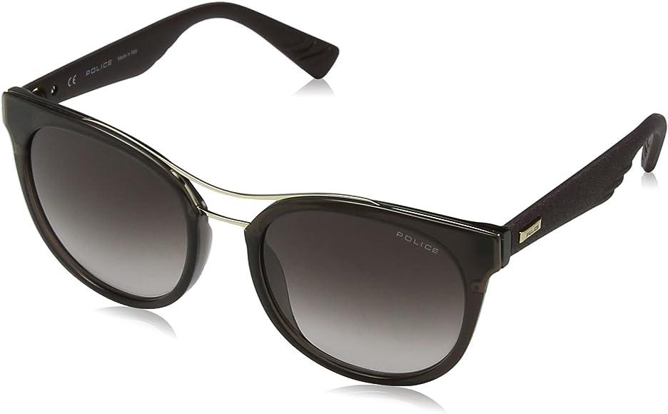 neue hohe Qualität gut aussehen Schuhe verkaufen angenehmes Gefühl Police Damen Sparkle 3 Sonnenbrille, Braun (Shiny Brown), 45 ...