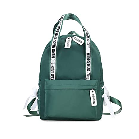 Amazon.com: 2019 New Fashion Large Capacity Backpack Women Preppy School Bags For Teenagers Female Nylon Travel Bags Girls Bowknot Backpack Mochilas (Green ...