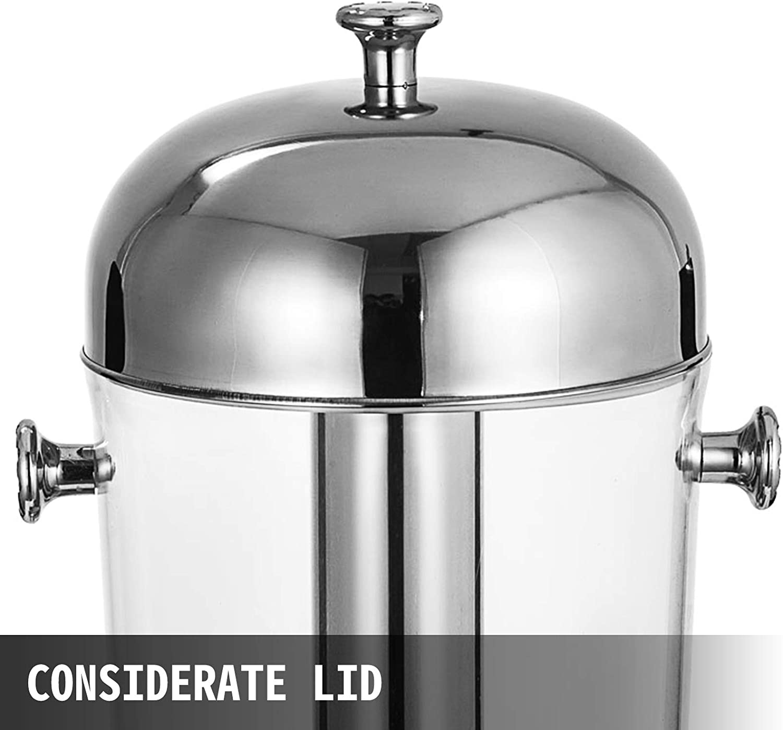 VEVOR Commercial Beverage Dispenser 2x8 L//4.2 Gallon Commercial Cold Drink Dispenser Heavy Duty Cold Juice Drink Dual Bowl Juicer Dispenser BPA Stainless Steel for Bars Hotels
