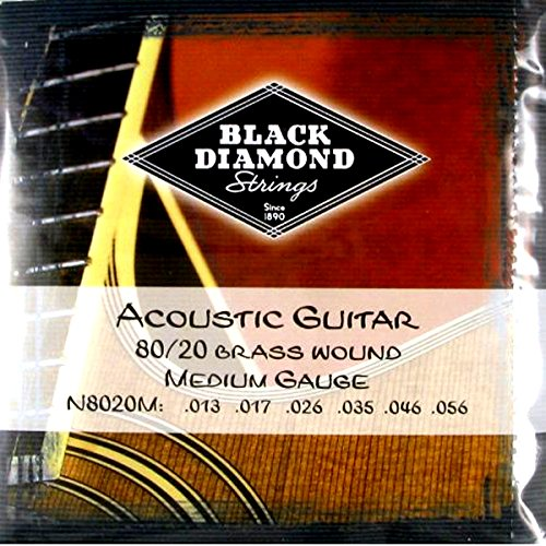 Black Diamond Electric Bass - Black Diamond Strings 80/20 Brass Wound Acoustic Guitar Strings 13-56