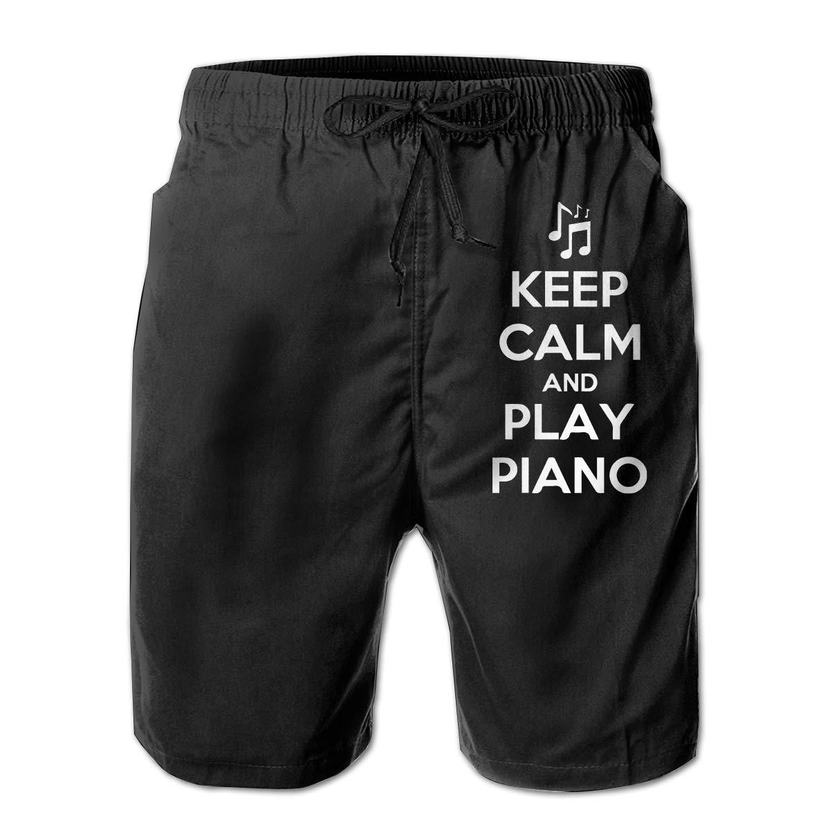 3D Printed Board Shorts with Pockets Yt92Pl@00 Mens 100/% Polyester Keep Calm and Play Piano Beachwear