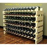 Stackable Wine Rack-72 Bottles Modular Wine Racks, Wobble-Free, WN84-