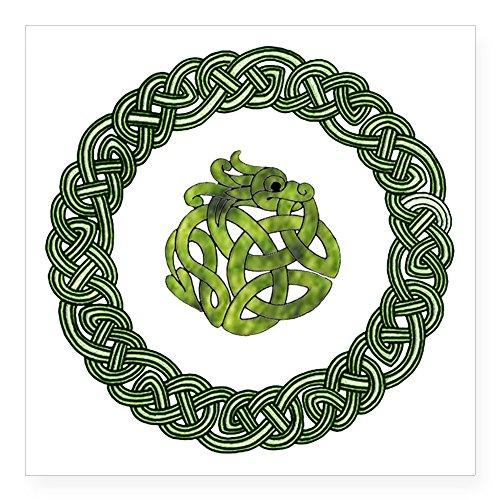 Celtic Knotwork Dragon (CafePress - Celtic Dragon 2 Sticker - Square Bumper Sticker Car Decal, 3