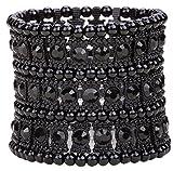 Angel Jewelry Women's Multilayer Crystal Stretch Bracelet 3 Row