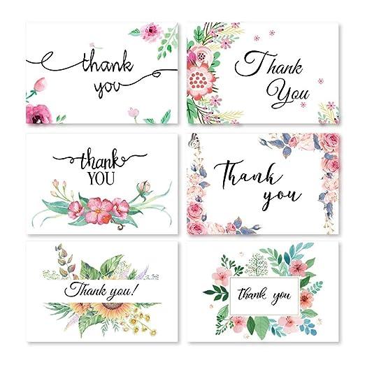 Tarjeta de felicitación Bulk Tarjetas de agradecimiento Flor ...