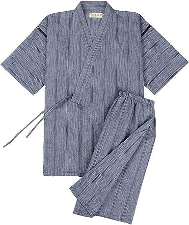 Traje de Pijama Kimono de Estilo japonés para Hombres [D ...