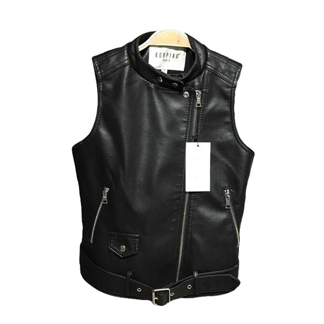 b81e6e89a388ca YYF Women s Faux Leather Sleeveless Jacket Biker Motorcycle Vest Waistcoat  Black at Amazon Women s Coats Shop