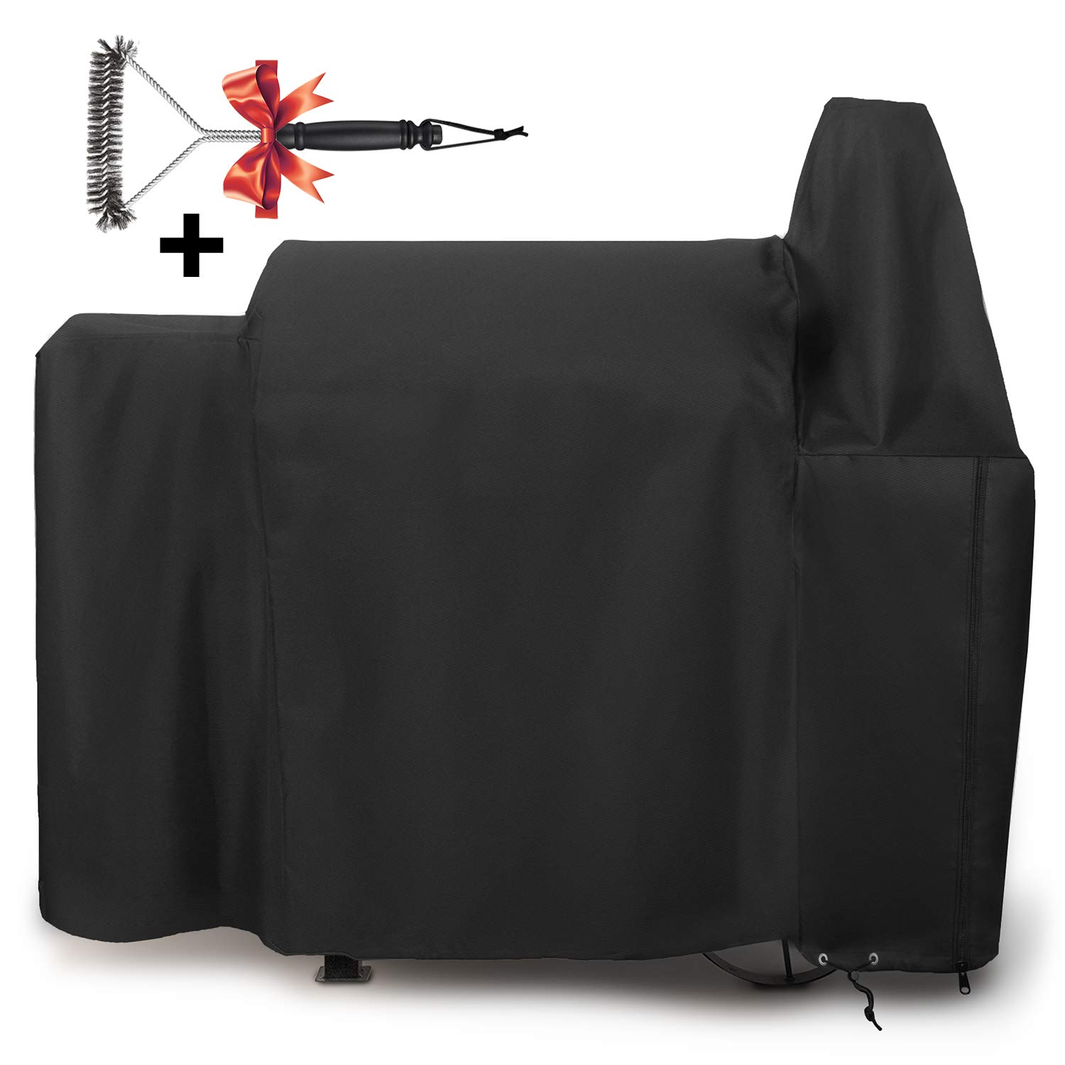 SHINESTAR SS820 Grill Cover for Pit Boss 820 Deluxe Pellet Grill, Heavy Duty and Waterproof Grill Cover Fits for Pit Boss 820D Wood Pellet Grill with Zipper by SHINESTAR
