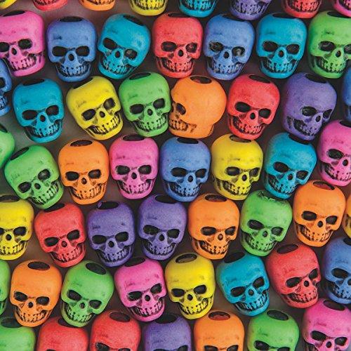 The Beadery 4-Ounce Bag of Skull Beads, Circus