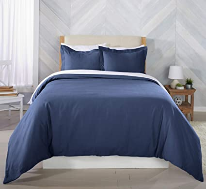 Amazon Com Great Bay Home Extra Soft Flannel Duvet Cover With