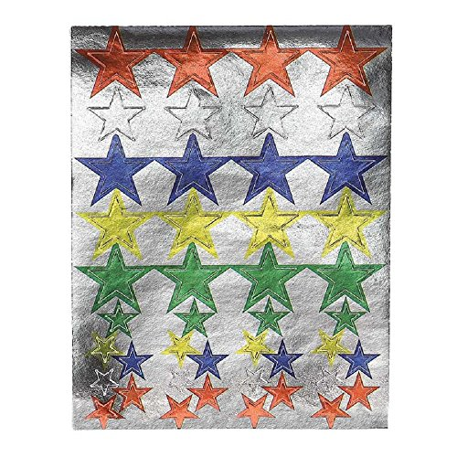 - Hygloss Products Colored Foil Star Stickers - Shiny, Metallic Stickers Made in USA - 20 Sheets, 880 Stickers