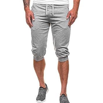 Pantalones Hombre,❤LMMVP❤Verano Hombres Gimnasio Entrenamiento Jogging Pantalones Cortos Fit Elástico Casual Ropa de Deporte: Amazon.es: Deportes y aire ...