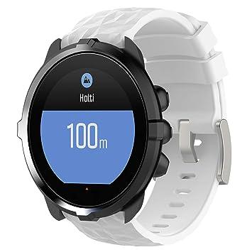 Ruentech - Correa de Repuesto para Reloj Suunto Spartan Sport HR Baro/Suunto 9, Color Blanco: Amazon.es: Deportes y aire libre