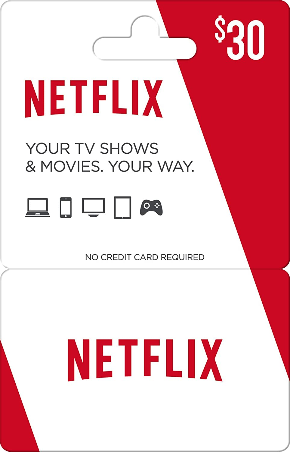 Netflix Gift Card $30: Amazon.com: Gift Cards