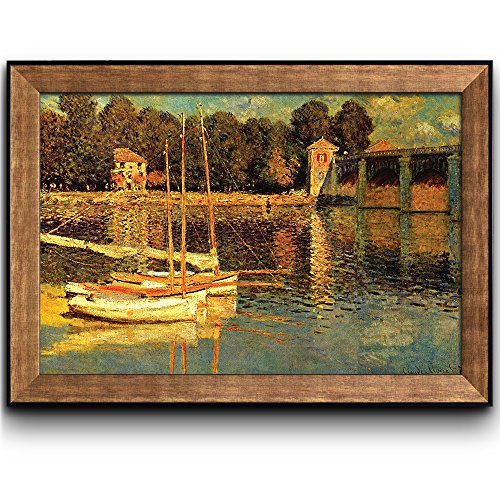 The Bridge of Argenteuil by Claude Monet Framed Art