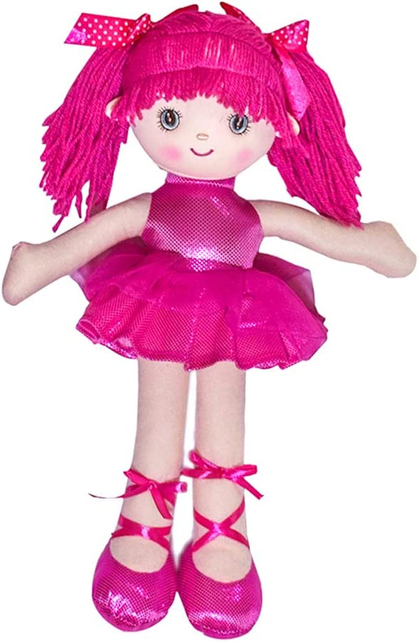 Phomnd Ballerina Doll,Ballerina Doll for Little Girls 15.7 inch Soft Plush Stuffed Princess Ballet Doll Play House Toy Birthday Gifts Pink