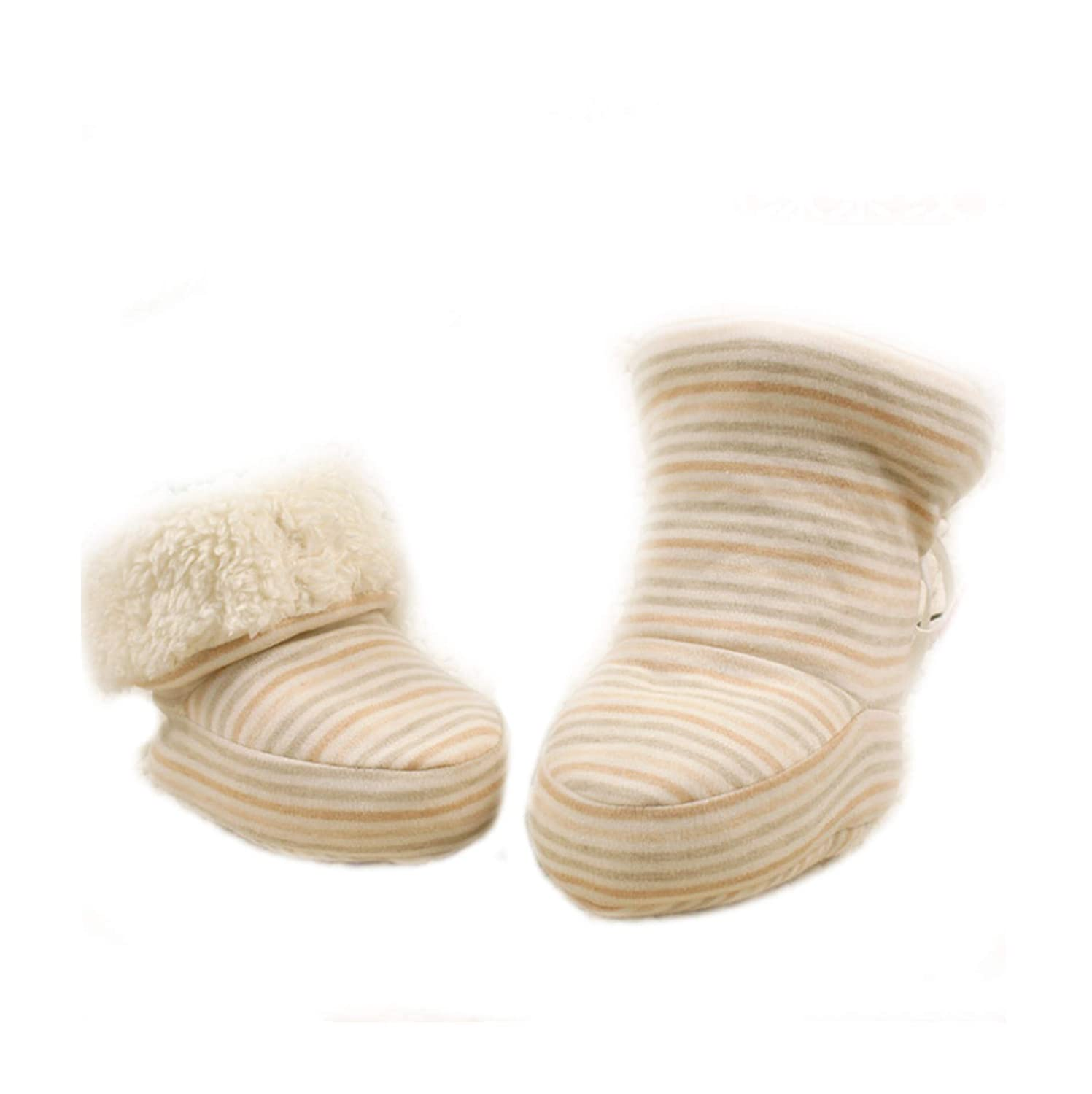 HorBous Chaussons Chaud Hiver Naissance Bottillons Hiver Bebe Boots Hiver Bebe Bottes Hiver Fourre Bebe 0-12 Mois Bebe