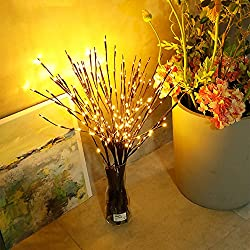 SHJNHAN LED Willow Branch Lamp, Floral Lights 20 Bulbs Home Christmas Party Garden Decor (3X 30Inches)