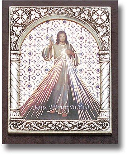 Divine Mercy Standing Plaque 2