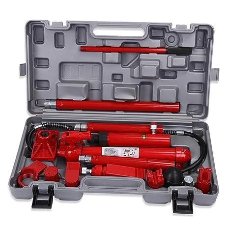 GOTOTOP Profesional Set de 10 Tonelada Gato Hidráulico Kit de Herramientas para Reparación de Marco del