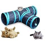 GreeSuit 猫 トンネル 猫 おもちゃ 猫用おもちゃ3通 キャットトンネル ペット玩具 折りたたみ式