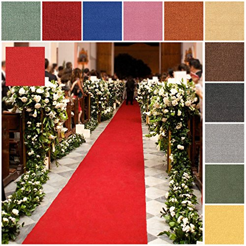 Custom Size PINK Rubber Backed Wedding Event Hallway Entry Aisle Stair Runner Rug Carpet 22in X (Pink Floor Runner)