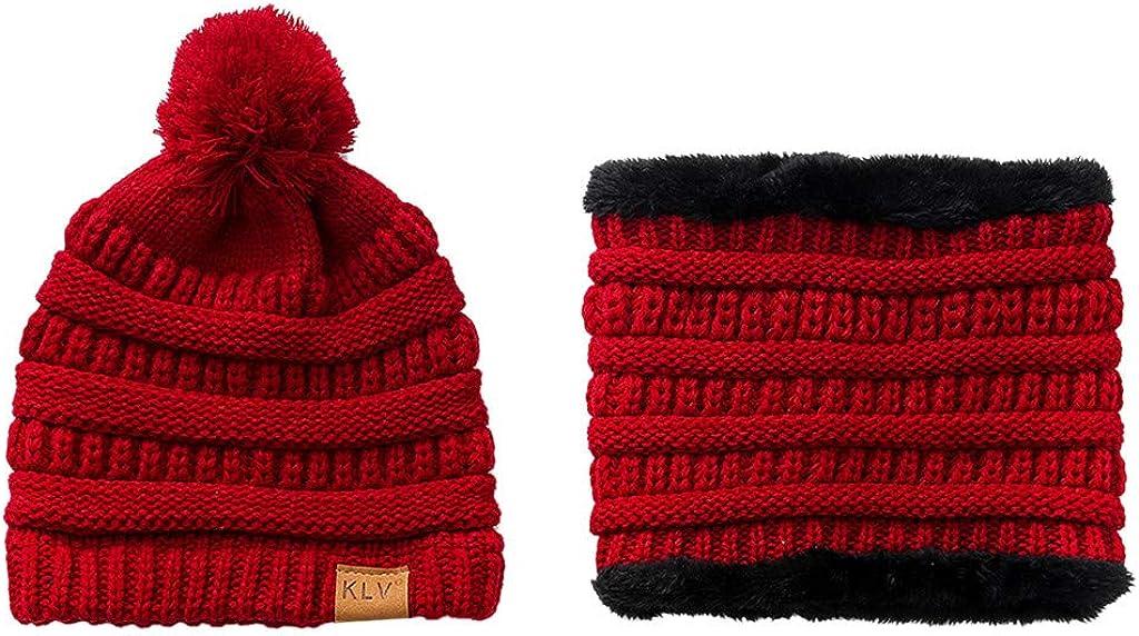 TWGONE Women Cold Weather Headbands Double Decked Hemp Flower Knitting Wool Hat Heap Heap Warm