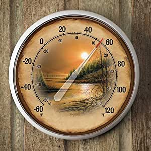 River Landscape Thermometer by Terry Redlin