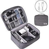 OrgaWise Bolsa Cables de Viaje Organizador Accesorios para Tableta, Disco Duro Externo, Cargador, Cables, Objetos…
