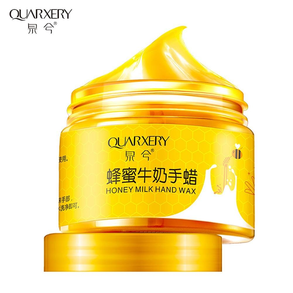 Milk& Honey Hand Wax Hand Peel Off Mask Remove Dead Skin Moisturizing Whitening Hand Care Leche y Miel Peel Off Hand Wax Mask - Exfoliante Hidratante Blanqueamiento Nourish Peeling Mask colinsa