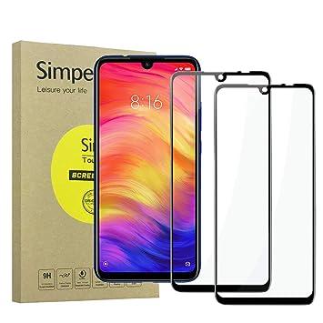 69ade3870 Simpeak 2-Packs Cristal Templado para Xiaomi Redmi Note 7 / Redmi Note 7 Pro