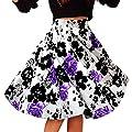 Alaroo Girls Print Flared Skater Midi Skirt S-XL