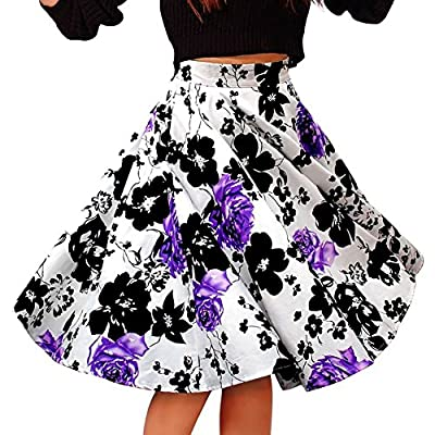 Alaroo Girls Print Flared Skater Midi Skirt S-XL
