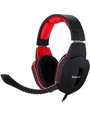 Badasheng Rauschunterdrückung Gaming Kopfhörer für PS4 Xbox One Headset mit Mikrofon Abnehmbarer, kompatibel mit Xbox 360, PS3 und PC-Spiel, dehnbares Stirnband, stumme Lautstärke Kontrolle (Rot)