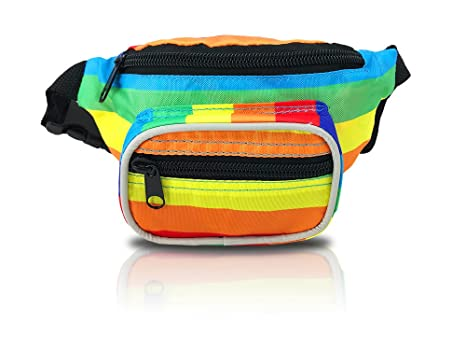 cf096f47f14 Nineteen80something Fanny Pack For Children/Kids Size Waist Bag/For Boys,  Girls, Toddlers And Babies (Rainbow)