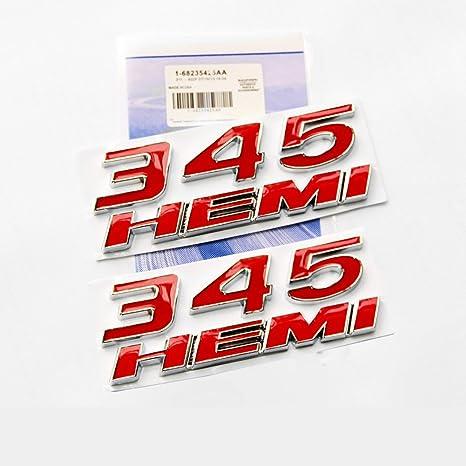 2x OEM Red RT R//T Emblems L for Dodge Black Challenger Charger Chrysler RT R//T