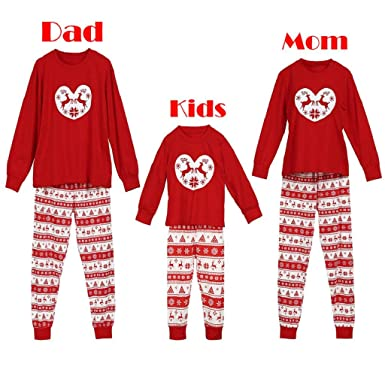 b0226c5e10 Women Man Kids Boy Girl Baby T Shirt Pants Family PJS Nightwear Outfits Set  Clothes Matching Christmas Pajamas Set Blouse +Santa Striped Pants  ...