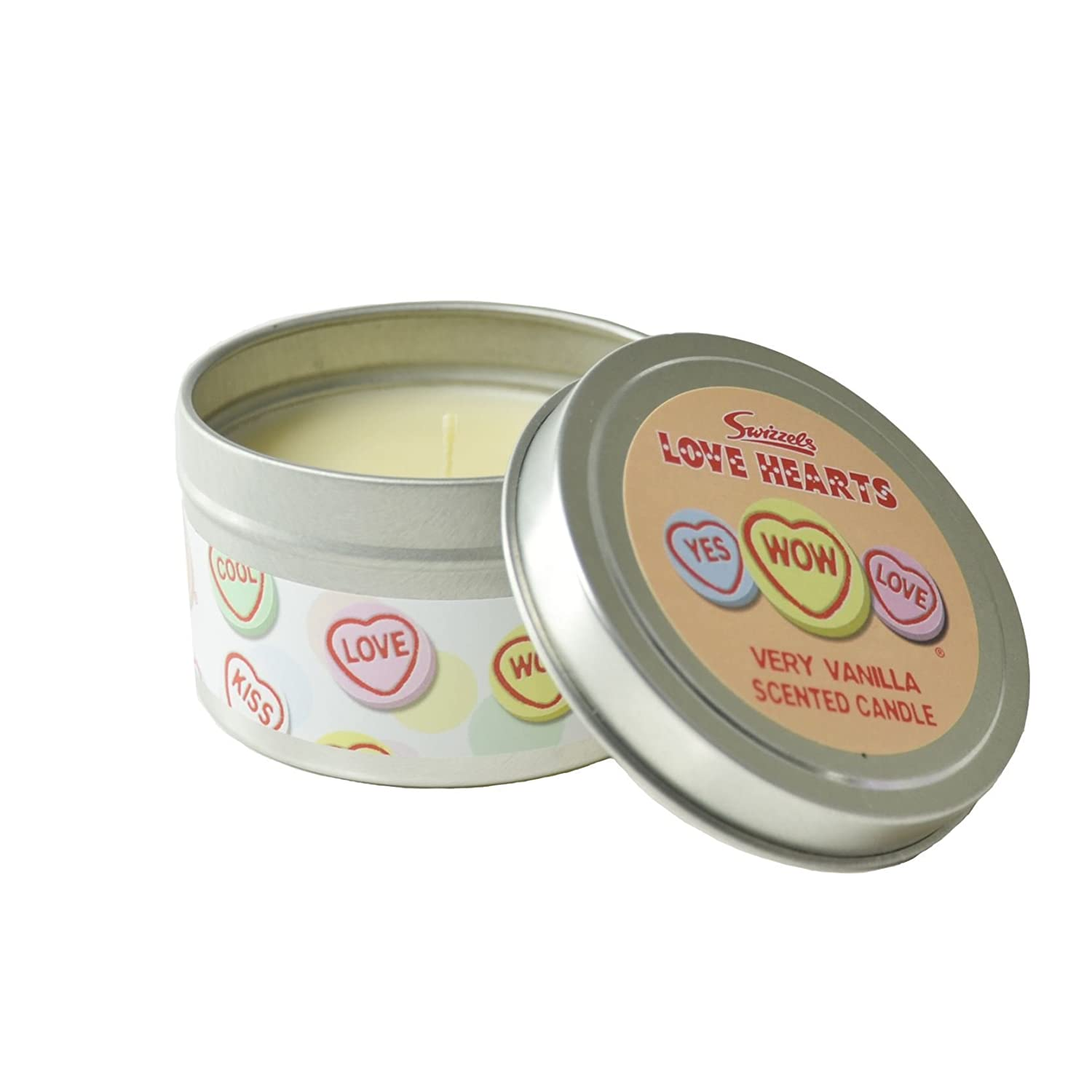 Love Hearts Scented Candle In A Tin 85g - Very Vanilla