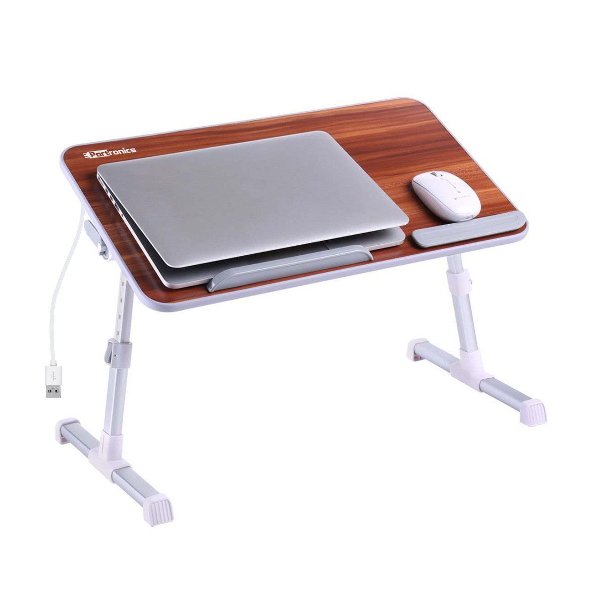 Portronics POR-895 Adjustable Laptop Table (Brown) product image