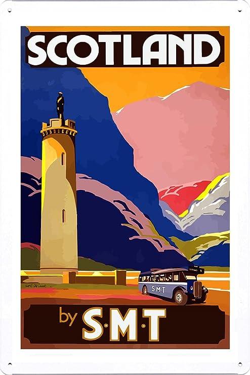 Scotland It/'s Highlands /& Islands Vintage Travel Advertisement Poster Print