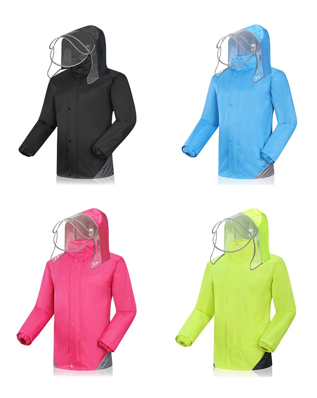 WQ-Regenjacken Einzelner männlicher männlicher männlicher und weiblicher aufgeteilter Regenmantel-Erwachsene Reitregen-Hosen-Satz kann wiederverwendet Werden (Farbe   schwarz, größe   XXXL) B07FJQ9Q6F Jacken Vollständige Spezifikationen b892ff