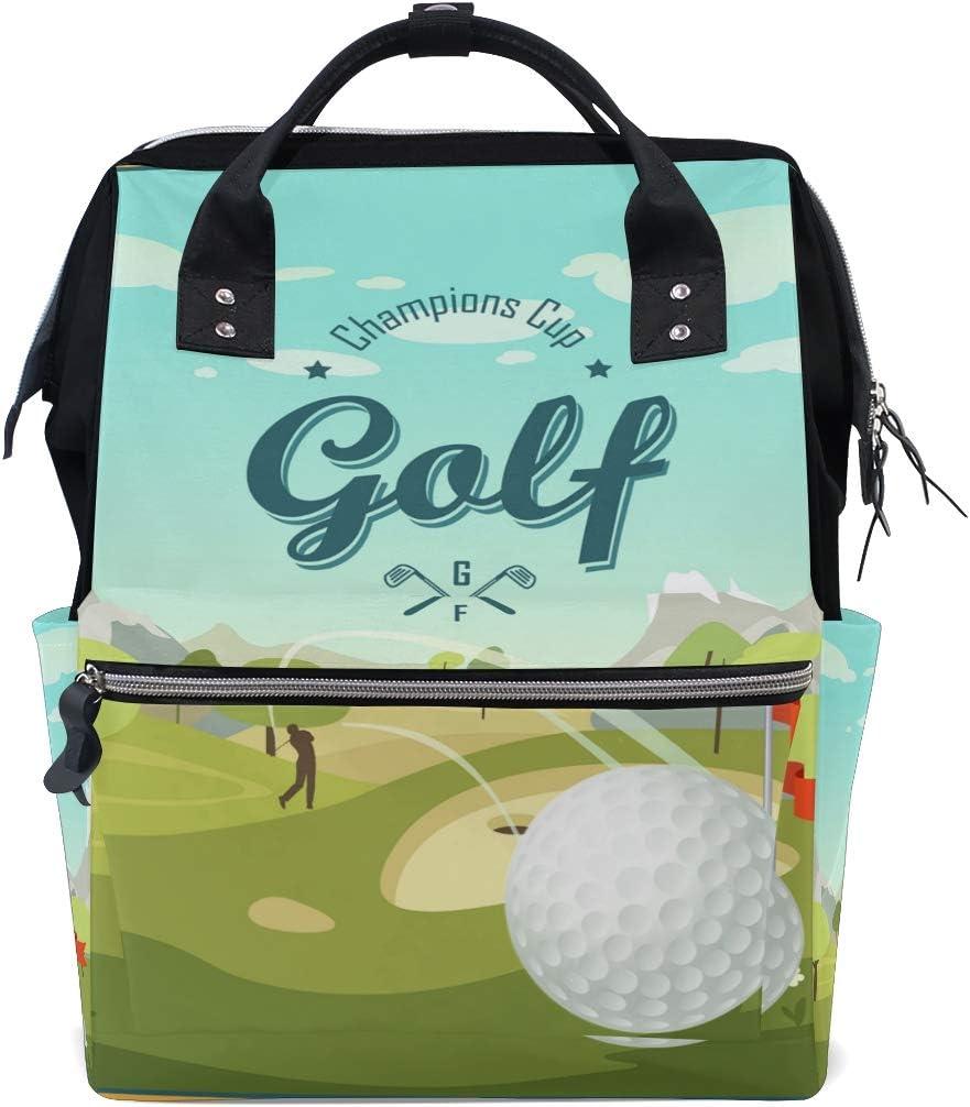 Bardic Golf Ball Club Bebé Bolso cambiador Impermeable Pañales Bolsas de Gran Capacidad Bolsa de Viaje Impermeable Bolsa de Pañales para Mujer para Hombres