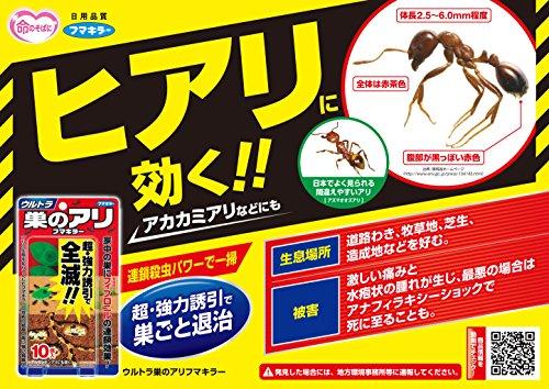 フマキラー 蟻 駆除 殺虫剤 毒餌剤 10個入 ウルトラ巣のアリフマキラー