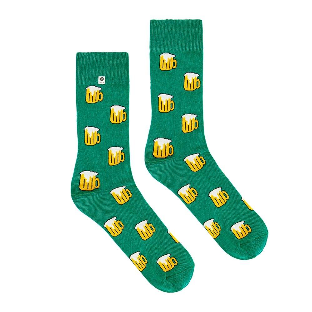 4LCK Colorful socks (Bière vert, Party, argent Foudre)