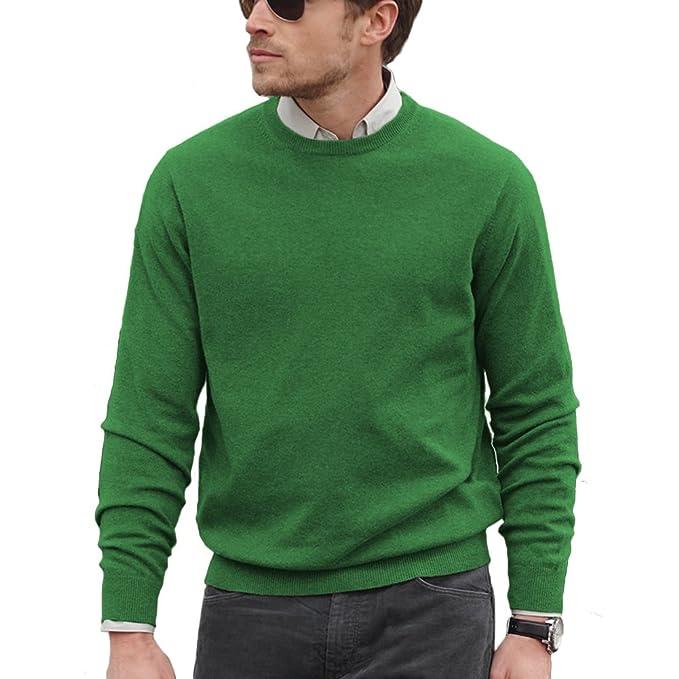 Parisbonbon Men\u0027s 100% Cashmere Crew Neck Sweater