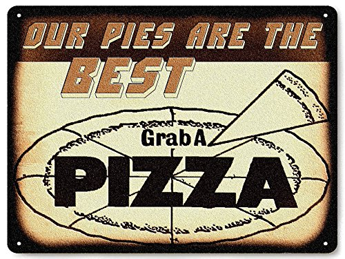 New York Pizza Parlor shop METAL sign / vintage restaurant deli diner wall decor 070