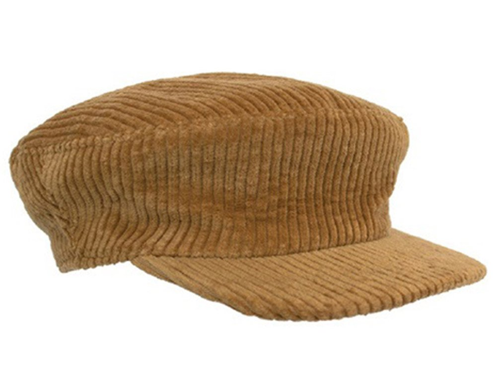 AWESOME NEEDS Women's Brown Classic Wool Corduroy newsboy Cap Hat One Size Brown by AWESOME NEEDS