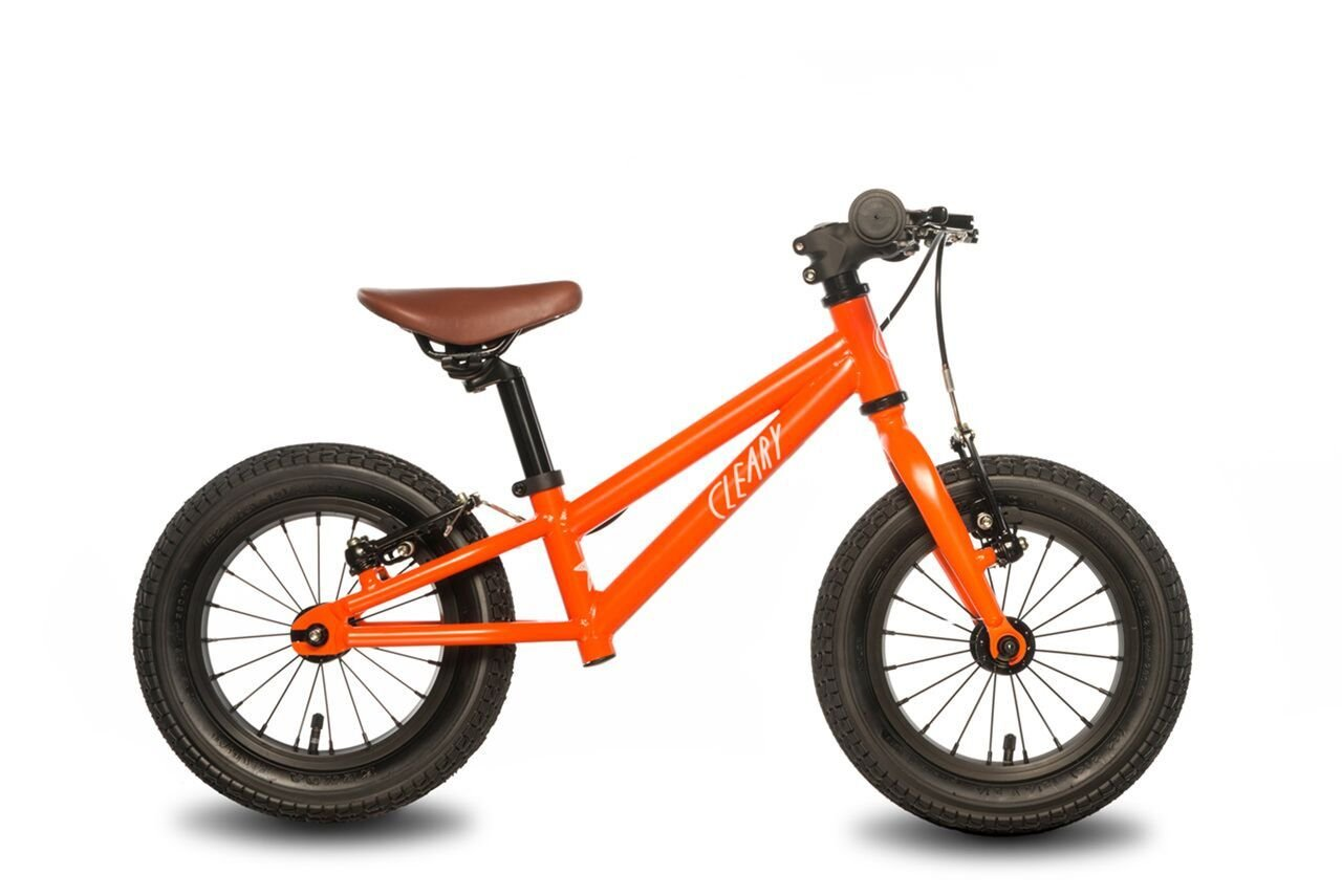 Cleary Bikes Balance Bike, 12'' No Pedal Bike, Lightweight, Starfish, Multiple Colors (Very Orange) by Cleary Bikes